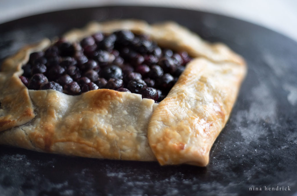 rustic blueberry crostata or galette recipe