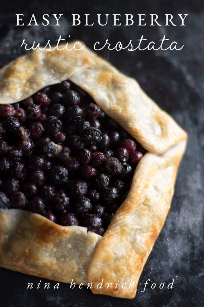 easy blueberry rustic crostata