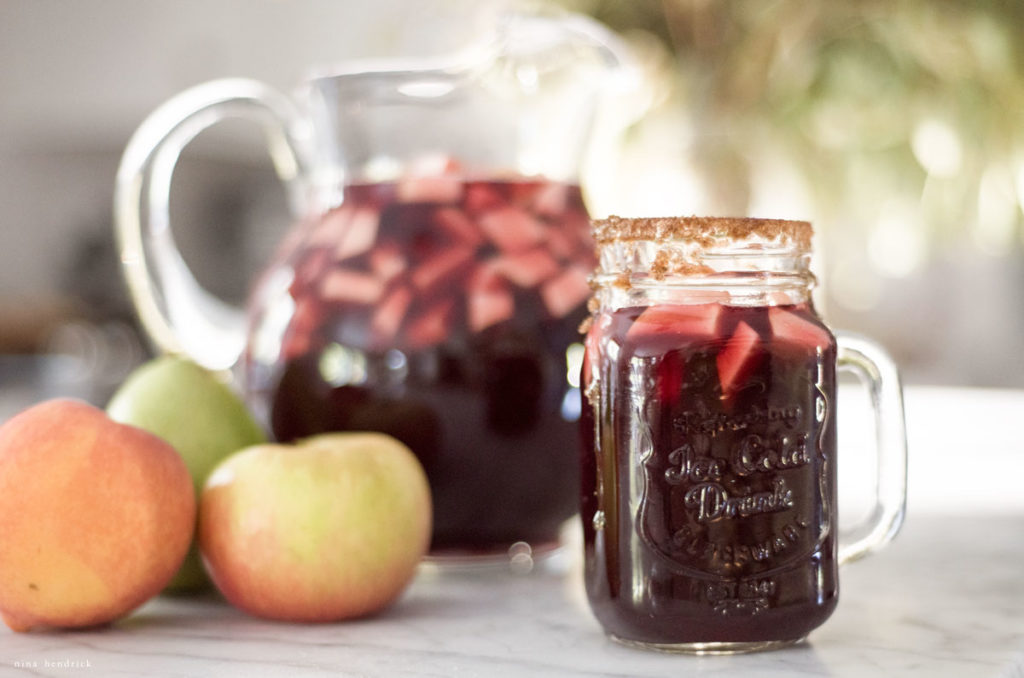 apple pear autumn sangria