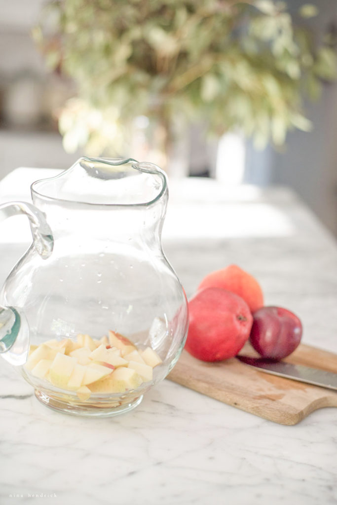 Fruit in glass for sangria