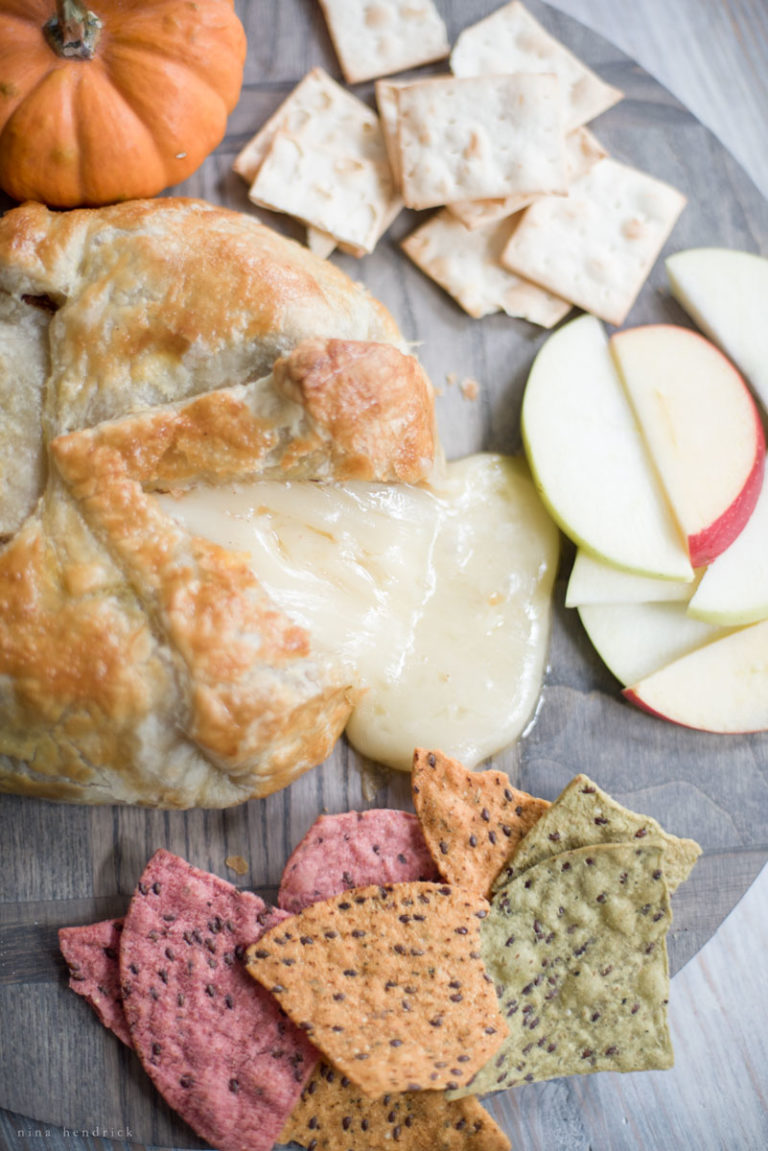 Pumpkin Walnut Baked Brie
