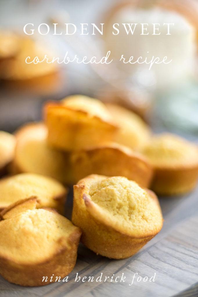 golden sweet cornbread muffins