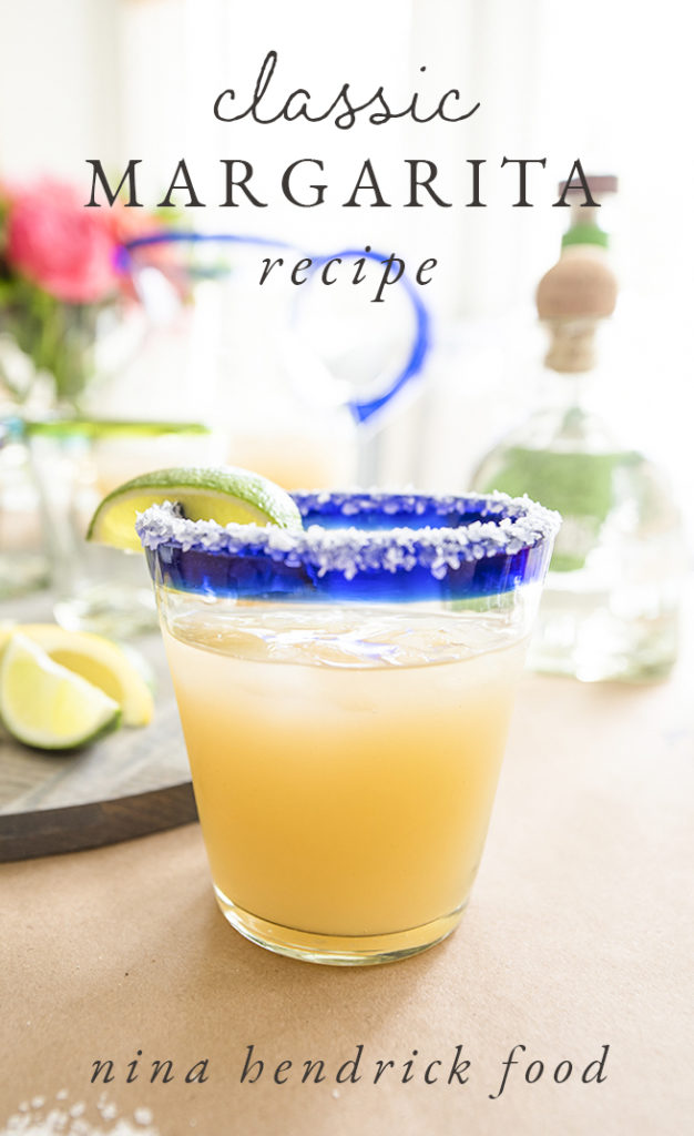 Classic margarita made with fresh-squeezed sour mix