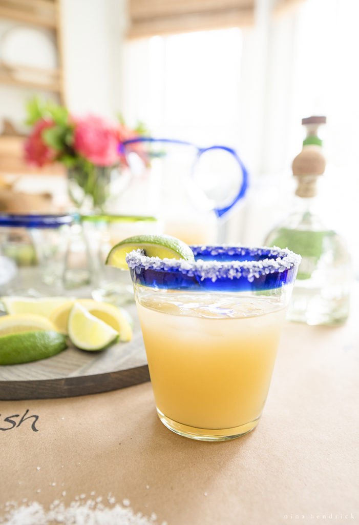 classic margarita tablescape with limes