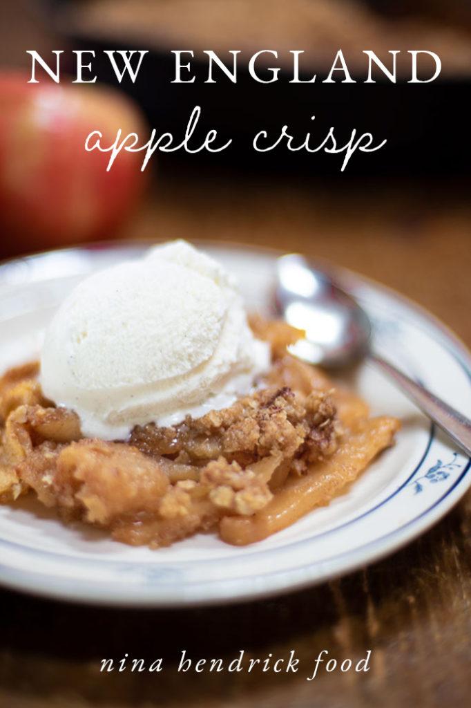 new england apple crisp recipe