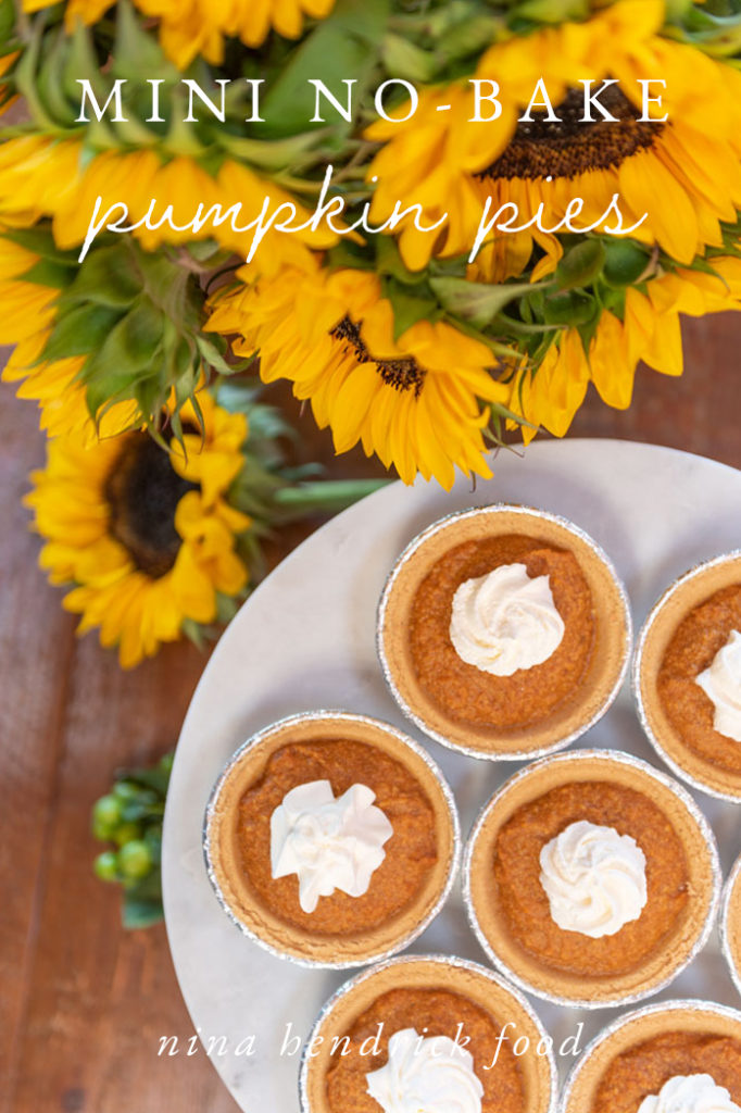 Graphic for Mini no-bake pumpkin pies