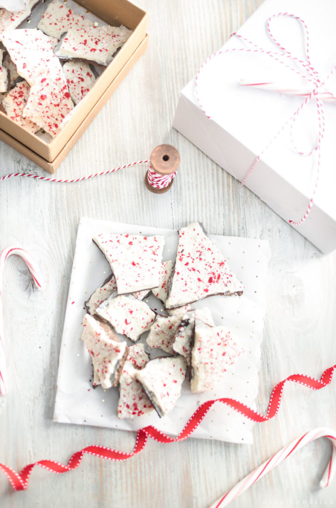 classic peppermint bark recipe and gifts