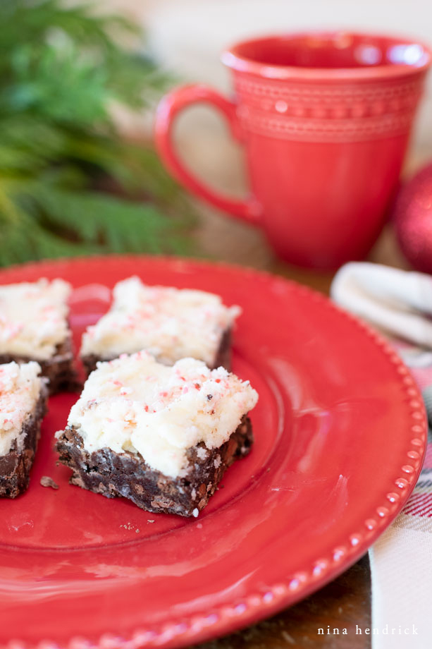 peppermint brownies from a box mix