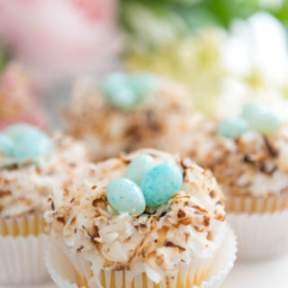 Toasted Coconut Nest Cupcakes