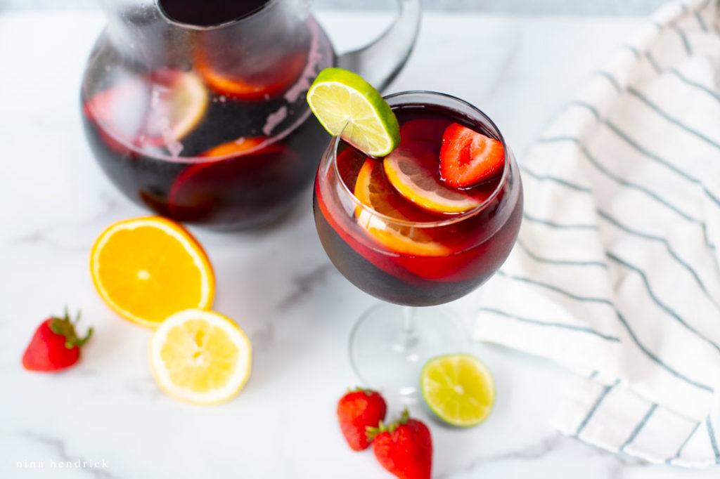 Fruity summer sangria